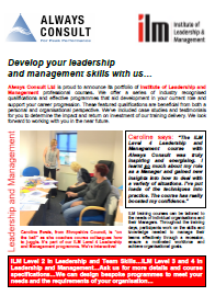 Always Consult Leadership & Management Courses Brochure