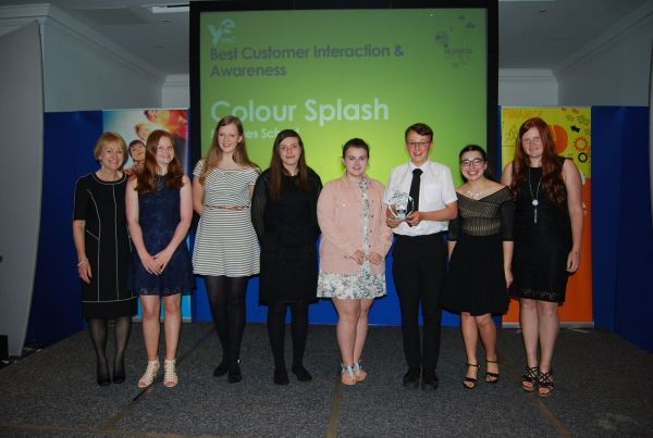 Always Consult's Shropshire Young Enterprise Award for Best Customer Interaction and Awareness went to Colour Splash